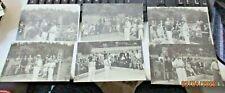 lotto 10 foto originali MARESCIALLO BADOGLIO TORNEO BOCCE MONTECATINI anni '30