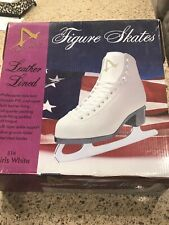 AMERICAN FIGURE SKATES FOR GIRLS SIZE 12Y / WHITE New