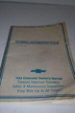 Vintage 1983 Chevrolet Celebrity Operator's Manual