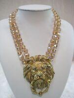 """HEIDI DAUS """"Lion Hearted"""" (Golden Shadow) Door-Knocker Necklace (Orig.$320.00)"""