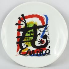 RARE Coupelle JOAN MIRÓ Porcelaine obra original 1997/owl/spain/picasso/dali...