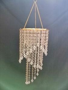 "30""Tall 3Tiered Spiral Acrylic Bead Chain Hanging Chandelier Wedding Centerpiece"
