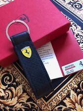 Genuine Ferrari Black Alcantara Keyring Extremely RARE Brand New Made in Italy