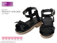 Azone AZO2 Wood Sole Sandals Black Yamato VMF50 48/50cm Obitsu MDD MSD 1/4 BJD