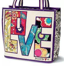 NWT Brighton Limited Edition Love Groove II Multi-color Canvas Tote Bag $100