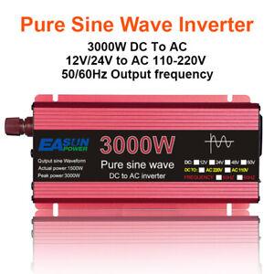 Reiner Sinus-Wechselrichter DC 12V 24V bis AC 110V 220V Spannung 800W 1600W 2200
