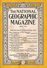 1935 National Geographic April - Honeybees; Mezokovesd Hungary; Tanager & Finch