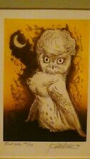 """WILLIAM A. KOLLIKER  ORIGINAL LIMITED EDITION ETCHING """"FIRST DATE""""ARTIST PROOF"""