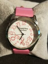 Simply Vera Vera Wang Pink Ribbon Breast Cancer Awareness Watch Pink Band