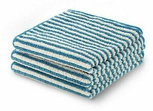 NEW - NorwexFace & Body Towel Pack (1 cloth set) TEAL/vanilla stripes