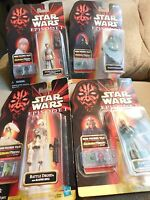 Star Wars Episode I 1998 Hasbro Lot of 4 Action Figures~Brand New~Free Shipping