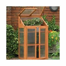 Wooden Greenhouse Cold Frame Transparent Flower Planter Growhouse 3 Tire New BS1