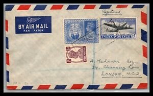 GP GOLDPATH: INDIA COVER AIR MAIL REGISTERED LETTER _CV755_P17
