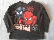 Boys 2 Years - Black Long Sleeve Top - Spider-Man - BHS