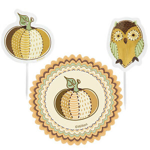 Wilton Fall Autumn Mystic Autumn Cupcake Baking Liner and Toothpick Combo Pack