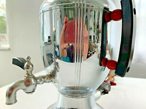 Vintage Art Deco 1930s Bubble Coffee Percolator Creamer Sugar Set 110