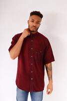 Vintage Wrangler Short Sleeved Denim Shirt Light Burgundy (L)