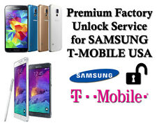 Premium Factory Unlock Code For Samsung Galaxy S4 S5 S6 S7 NOTE 4 T-Mobile USA