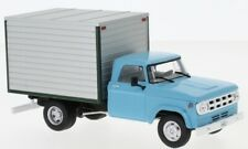 Dodge D-400 Box Van, hellblau/grau, 1:43, WhiteBox