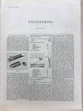 The Zoelly Steam Turbine: 1908 Engineering Magazine Print