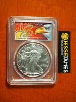 2020 (P) SILVER EAGLE PCGS MS70 CLEVELAND STRUCK AT PHILADELPHIA FIRST DAY ISSUE