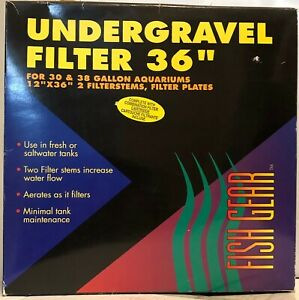 """Vintage Petland UNDERGRAVEL AQUARIUM FILTER 36"""" 30 & 38 Gallon Fish Tanks in Box"""