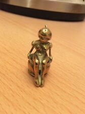 Very Rare Antique Brass Erotic Naked Lady On Chamber Pot Cigar Cutter Circa 1880