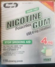 NEW/SEALED Nicotine Gum 4mg 110psc Box, made by Rugby exp 04/19 mint flavor