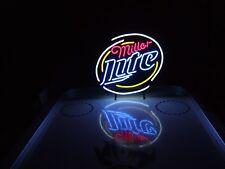 Miller Lite Neon Beer Light Sign & Budweiser Bud Hamms Pabst Coors NFL Coasters