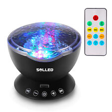 US Calming Autism Sensory LED Light Projector Relax Ocean Night Music Projection