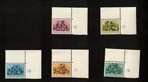 Netherlands 1952 Lot of 5 Semi-Postal Stamps, MNH VF OG, Sc# B243-B247