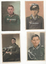 4 original rara iluminados/coloreada Portrait fotos soldados 2. WK fotografías en color