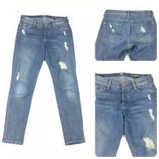 7 For All Mankind Womens Size 24 Distressed Josefina Skinny Boyfriend Jeans