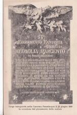 A7585) NOVARA, 54 REGGIMENTO FANTERIA UMBRIA, LAPIDE ALLA CASERMA PASSALACQUA.