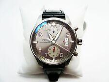 IWC 387809 Pilot Spitfire Chronograph JU-AIR Ltd Ed 1/500 SS Strap Wristwatch