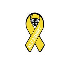 Aufkleber Sticker - gelbe Solidaritätsschleife ALFASHIRT Bundeswehr 3x7cm #A4280