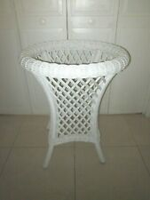 Vintage Rattan Wicker Table Base no Glass Cottage Style Shipping not Included