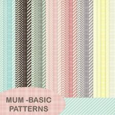 MUM - BASIC PATTERNS SCRAPBOOK PAPER - 29 x A4 pages