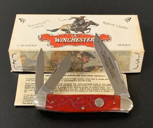 🔥 1998 WINCHESTER 390119 RED CARTRIDGE LARGE WHITTLER POCKET KNIFE BONE NOS