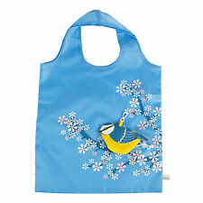 Sass & Belle Foldable Reusable Eco Friendly Shopping Bag Bluebird Blue TIT Bird