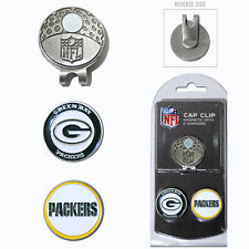 Green Bay Packers NFL Team Golf Cap Clip with 2 Magnetic Enamel Ball Markers