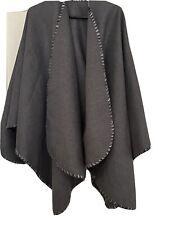 Ladies Free Size Grey Shawl / Wrap. Wool Mix.
