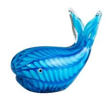 Blue Glass Whale130mm Long