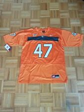 Michael Irvin #47 Miami Hurricanes STITCH Orange Football Jersey Men L New!
