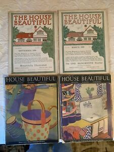 Lot Of 4 The HOUSE BEAUTIFUL Magazine *  Sept , Mar 1904 , 1905,  Feb Mar 1929