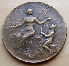 FRENCH / ART DECO / BRONZE MEDAL by F. RASUMNY / 40 mm / N.111