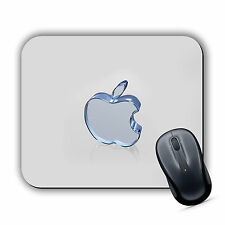 GLASS APPLE EFFECT MOUSE MAT Pad PC Mac iMac MacBook Gaming High Quality Printed