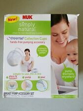 Nuk Simply Natural Freemie Collection Cups Hands-Free Pumping Accessory Sealed!