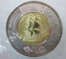 2012 HMS SHANNON WAR OF 1812 TOONIE UNCIRCULATED FROM MINT ROLL