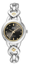 Q&Q by Citizen F513-402Y Crystal Embellished Silver  & Gold Tone Women's Watch